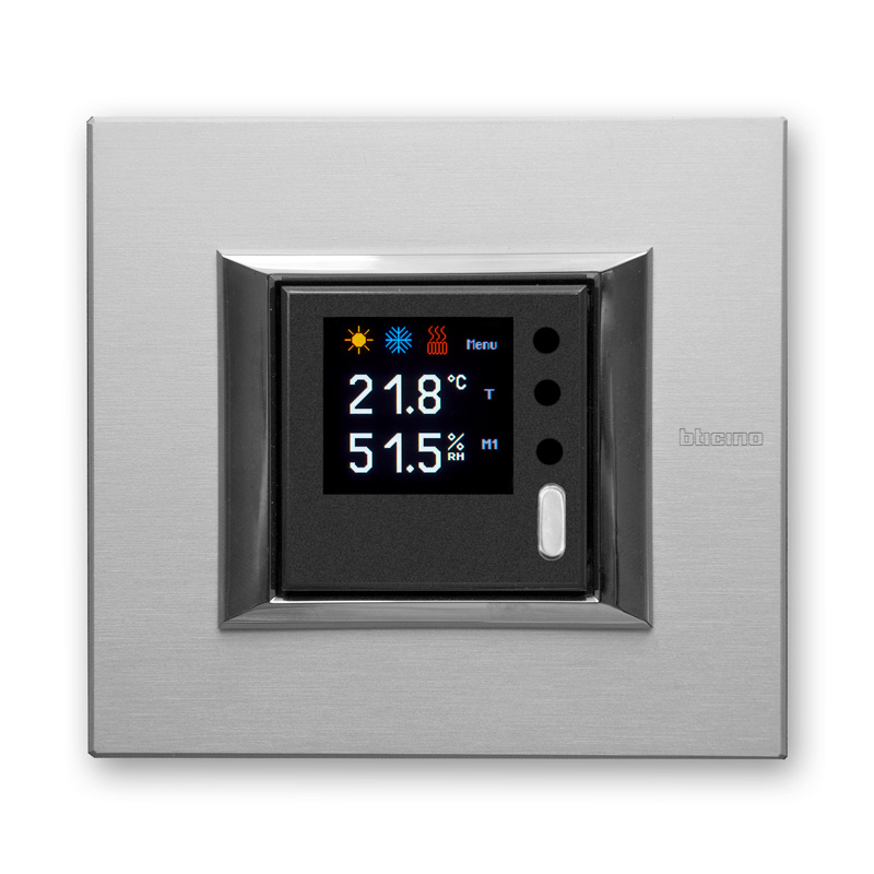 On wall controllers with graphic OLED display