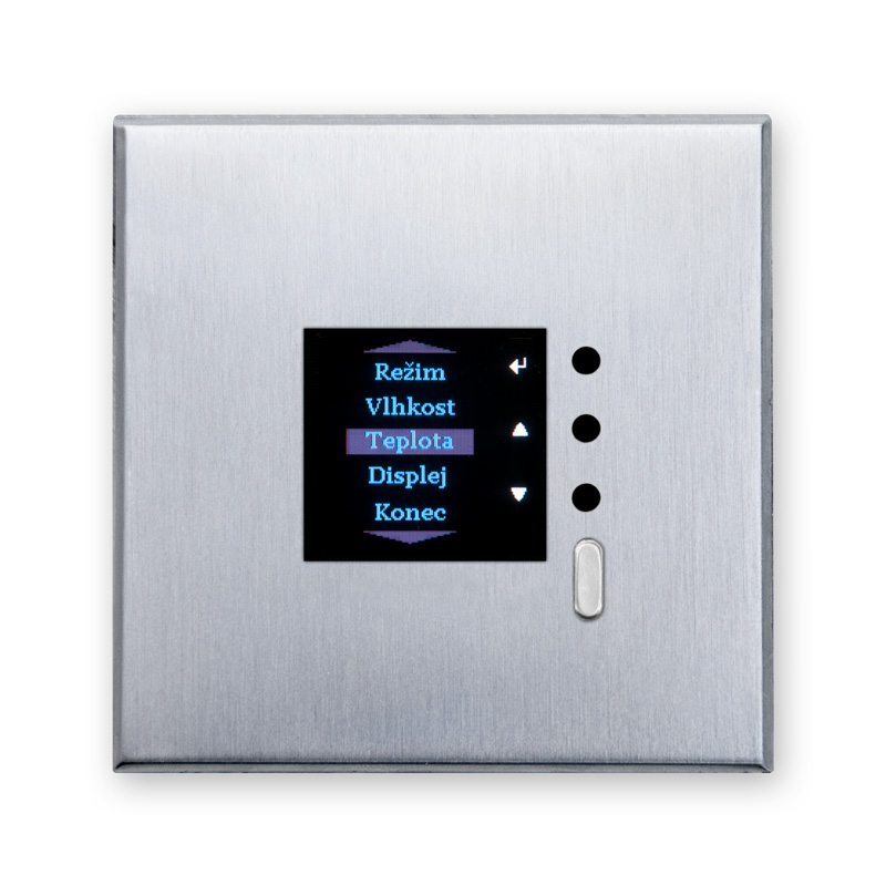 On wall controllers with graphic OLED display - type HTM1C
